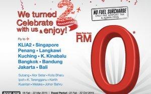 Malindo Air Turns 2! Enjoy Malindo flights base fare from RM 0*