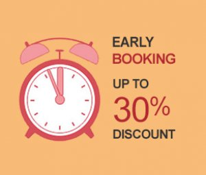 Book early and spend less this year! Enjoy up to 30% off*