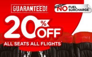 20% Off All Seats, All Flights Guaranteed!