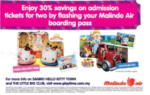Malindo Air Boarding Pass Promo: Enjoy 30% Savings on Admission Tickets at The Little Big Club and Sanrio Hello Kitty Town from Malindo Air