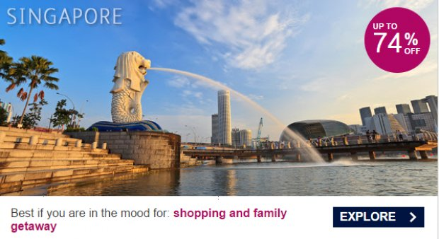 Great Singapore hotel deals,  Best for shopping and family getaway