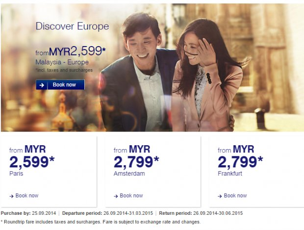 Discover Europe from MYR2,599