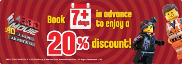 20% Entrance Tickets to Legoland for Early Birds