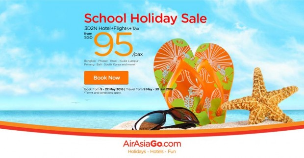 School Holiday Sale from SGD95 with AirAsiaGo