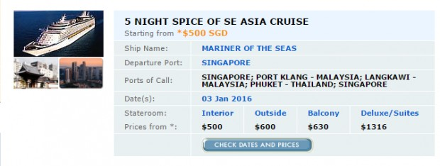 5 Night Spice of Se Asia Cruise from SGD 500* 1