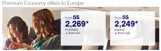 Premium Economy Class Offers to Europe