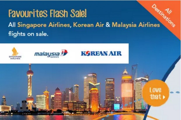 Favourite Airlines 3-Day Flash Sale with Zuji