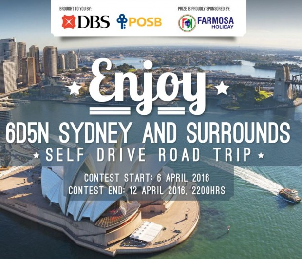 WIN Cool Prizes for 2 to Sydney Brought to you by DBS Bank
