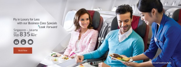 Business Class Special Fare from SGD 835 with Garuda Indonesia