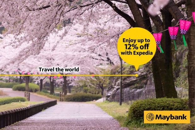 Up to 30% Off Flight and Hotel Package with Expedia and Maybank 1