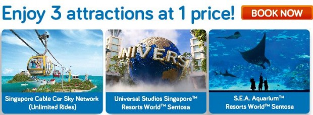 Save more than 20% with Triple the Fun in Singapore Cable Car