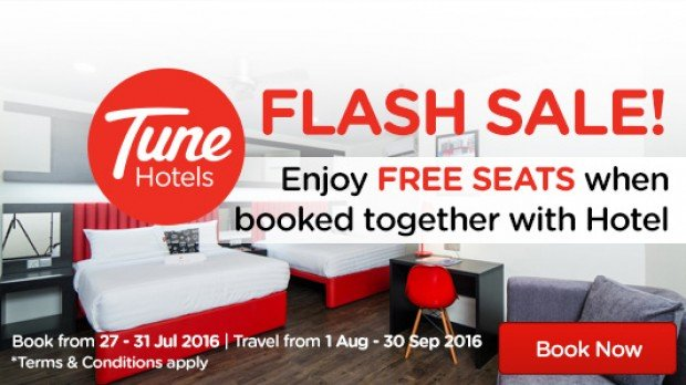 Book Together with Hotel and Get a FREE Seats from SGD82 with AirAsiaGo 1