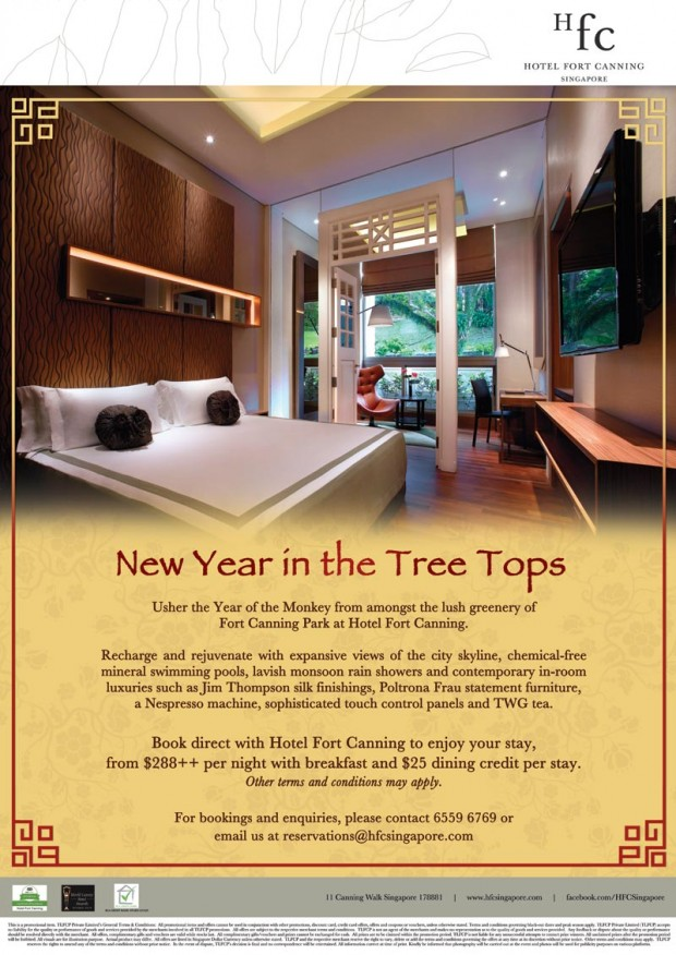 New Year in the Tree Tops from $288++