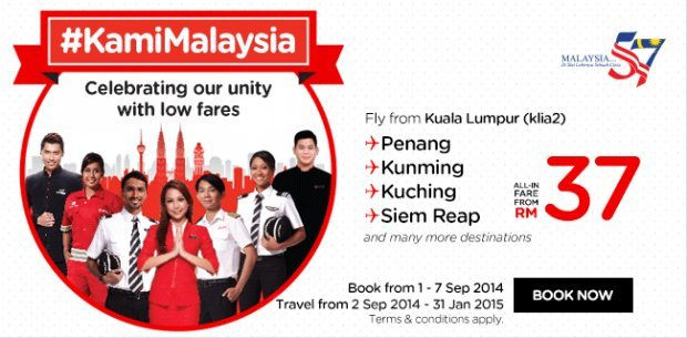 #KamiMalaysia. Celebrating our unity with low fares