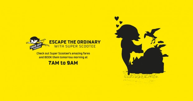 Escape the Ordinary and Scoot from SGD50 this Tuesday