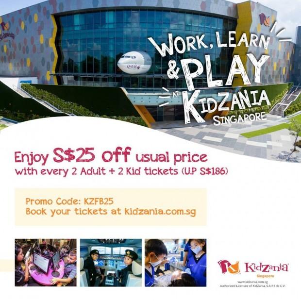 Enjoy SGD25 Off KidZania Ticket's Usual Price