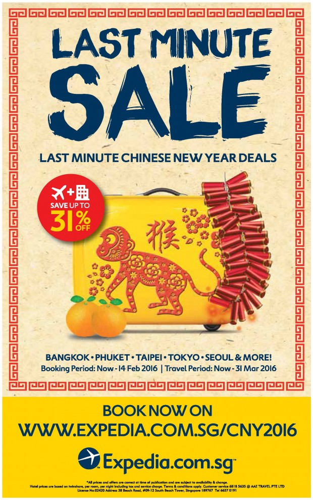 Cheap Air Tickets Deals | Last Minute Chinese New Year Sale, Ape