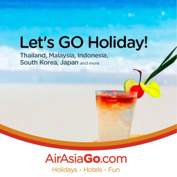 Let's GO Holiday!   3D2N Flights + Hotel + Tax from SGD 90/pax with AirAsiaGo 1