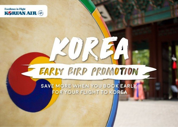 Early Bird Promotion to Seoul from Korean Air 1