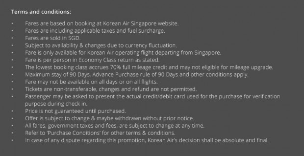 Early Bird Promotion to Seoul from Korean Air 2
