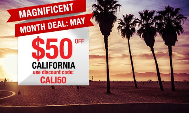 Month of May Deal from CheapTickets.sg: SGD50 Off Flight Fare to California