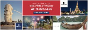 Explore More Of Singapore and Thailand With 25% Less