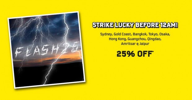 Strike Lucky Before 12AM! Scoot 25% Off Flights to 10 Cities
