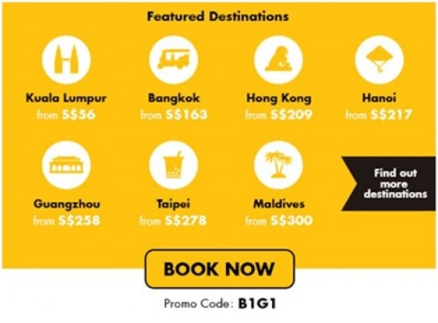 Enjoy 50% off Flexicombo Base Fares with TigerAir and American Express 2