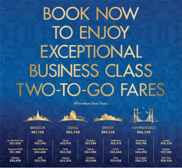 American Express Singapore Airlines Fare Promotion from SGD248 2