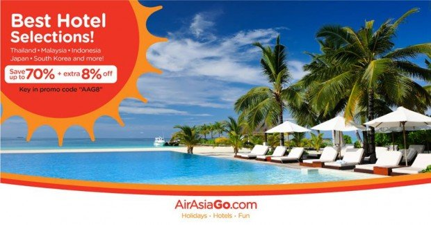 70% + 8% Off Best Hotel Rates with AirAsiaGo 1