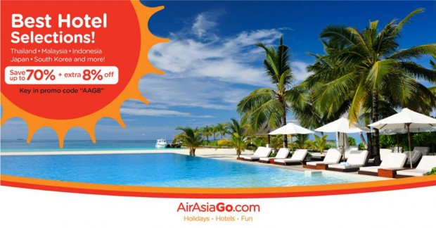Hot Hotel Sale: 70% + 8% Off Best Hotel Rates with AirAsiaGo 1