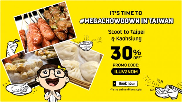 Fly to Taiwan and Save 30% on Scoot Tickets