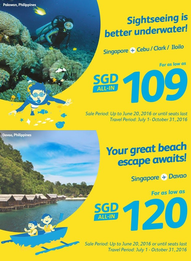 Travel to the Philippines from SGD109 with Cebu Pacific Air