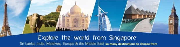 Explore the world from Singapore with SriLankan Airlines