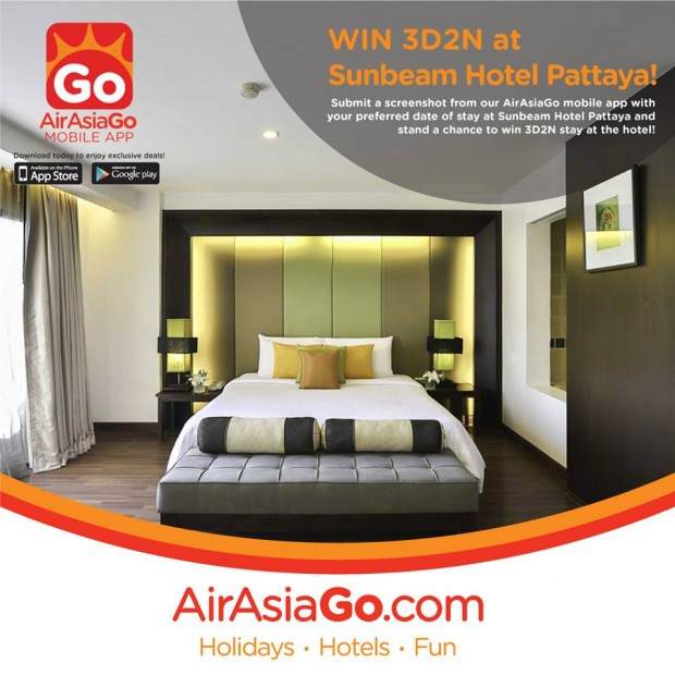 WIN 3D2N at Sunbeam Hotel Pattaya with AirAsiaGo