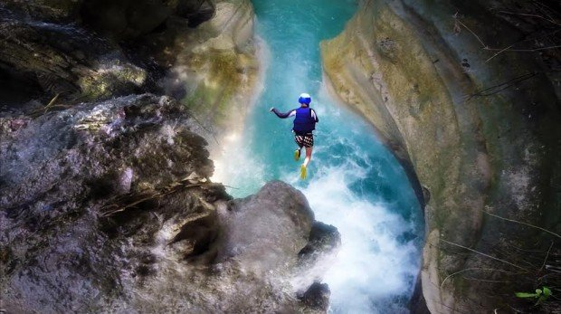canyoneering in badian