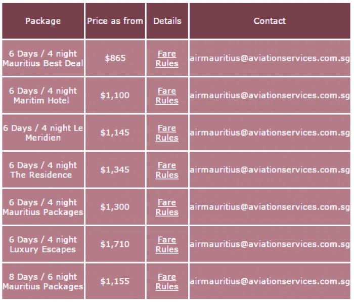 Air Mauritius Special Economy Offers 2