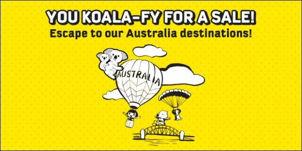 You Koala-Fly for a Sale with Scoot for SGD99