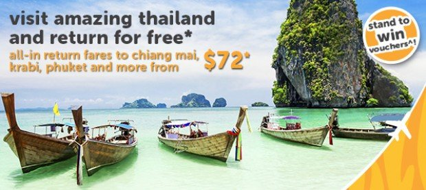 Visit Amazing Thailand and Return for FREE* with TigerAir