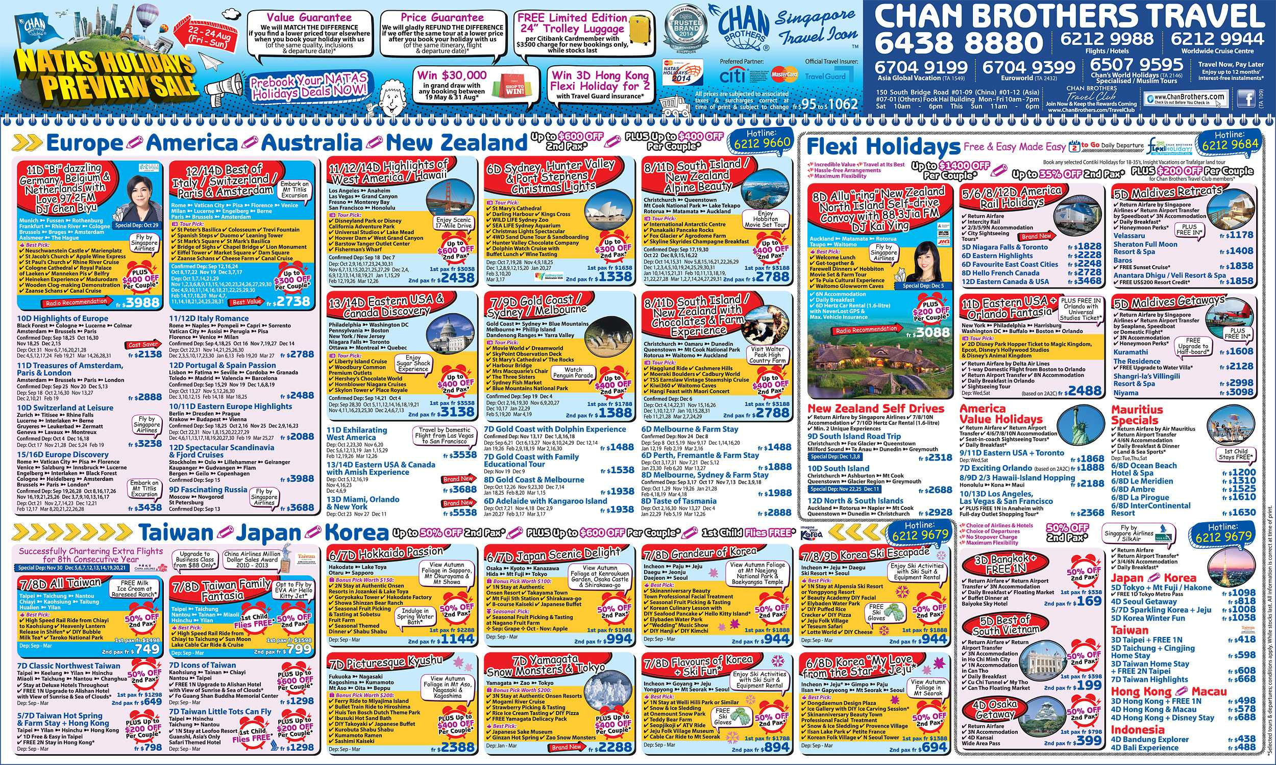 Holiday Package Deals Chan Brothers Natas Holidays