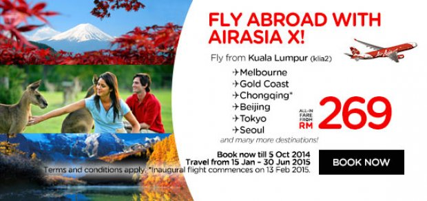 Fly abroad with Airasia X!