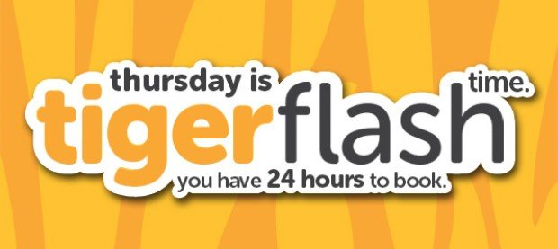 Thursday Flash Sale from TigerAir Starts from S$1