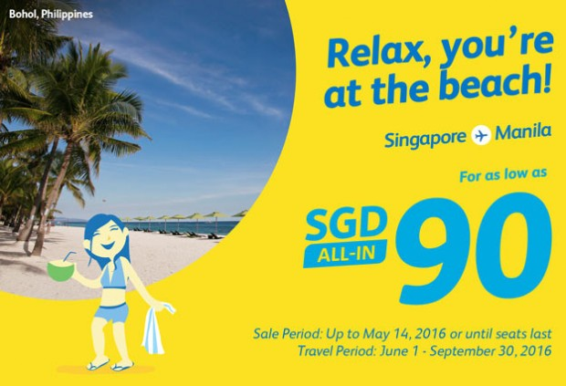Travel to the Philippines from SGD90 with Cebu Pacific Air