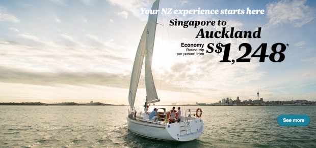 Experience New Zealand from SGD1,248 via Air New Zealand