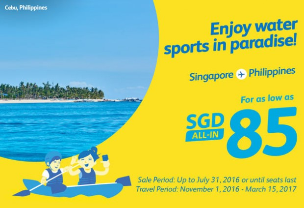 Travel to Philippines from SGD85 with Cebu Pacific Air