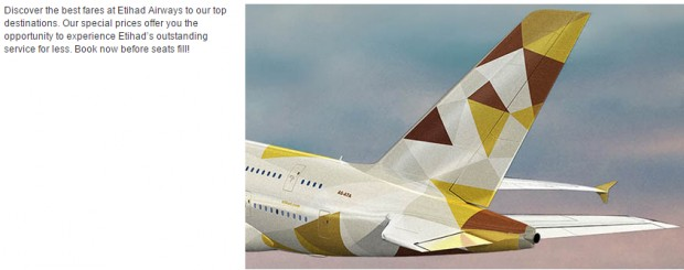 Discover the best fares at Etihad Airways 1