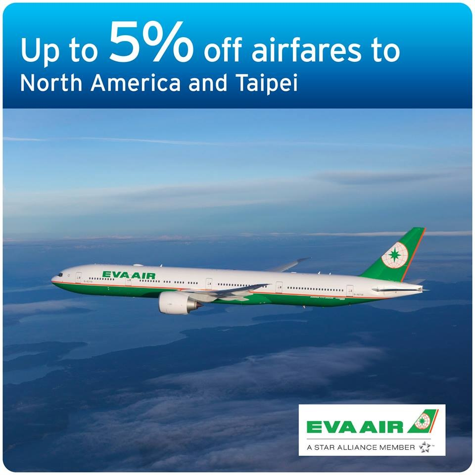 Credit Card Deals | EVA Air Promotion, Get up to 5% off