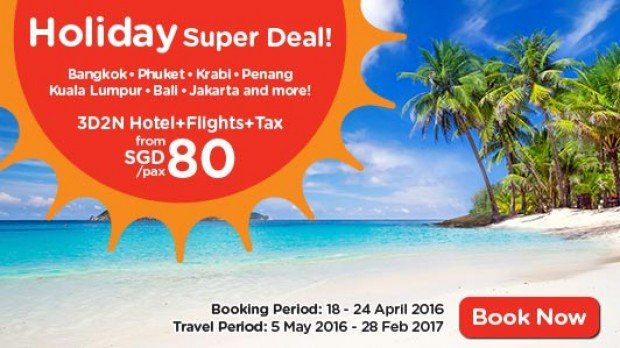 Holiday Super Deal from SGD80* with AirAsiaGo 1
