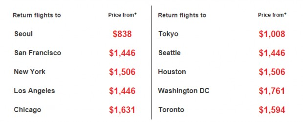 Korean Air Seat Sale! from $975 2