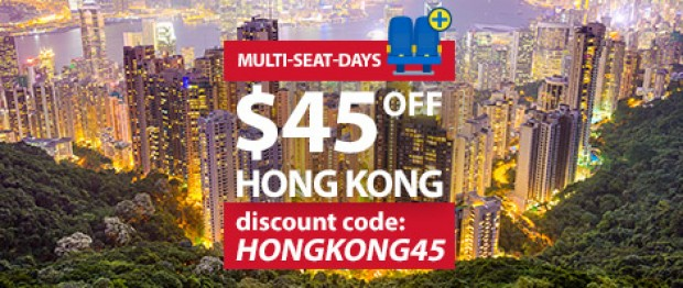 SGD45 Off Flights to Hong Kong with CheapTickets.sg